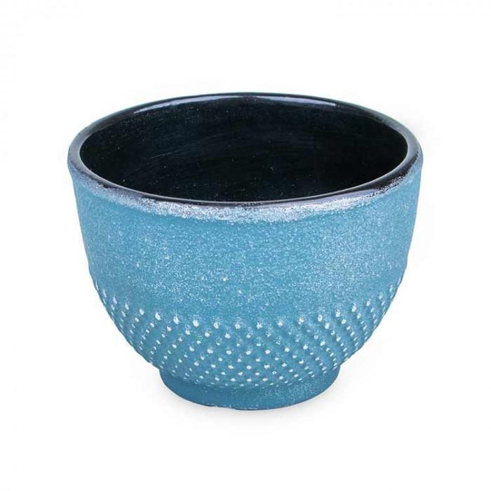 Tasse bleue argentée