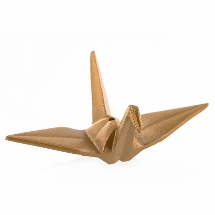 Porte Encens Origami doré - Les Encens du Monde - Aromandise - vue 3/4