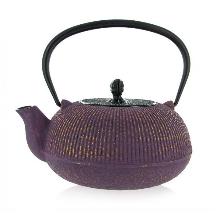 Théière Yuan Violette - Théière en fonte - Aromandise - côté