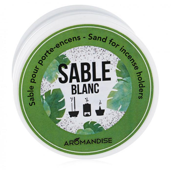 Sable Blanc pour porte encens - Les Encens du monde - Aromandise - vue face